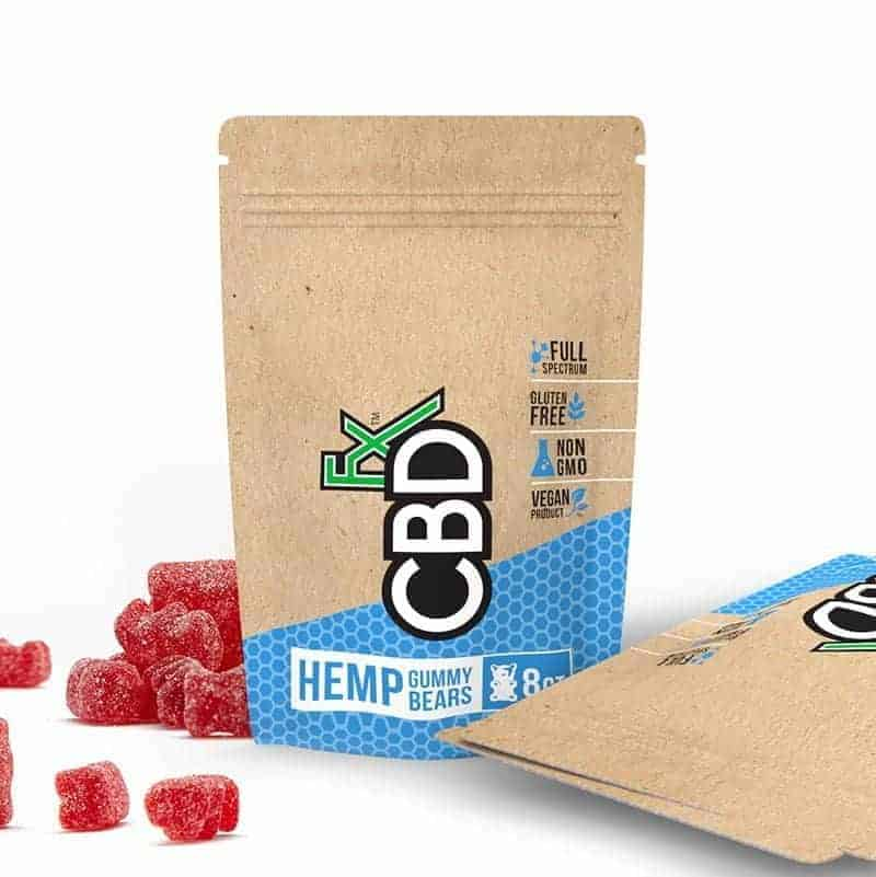 CBDfx Gummy Bears 40mg On the Go Pouch