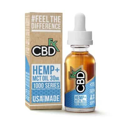CBDfx 1000mg Full Spectrum CBD Tincture Oil Natural 30mL