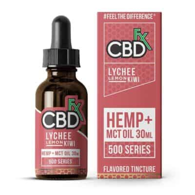 CBDfx Tincture Oil 500mg & 1000mg Lychee Lemon Kiwi CBD Oil