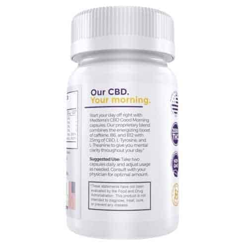 MedTerra 750mg Morning CBD Gels with Caffeine 25mg/Dose