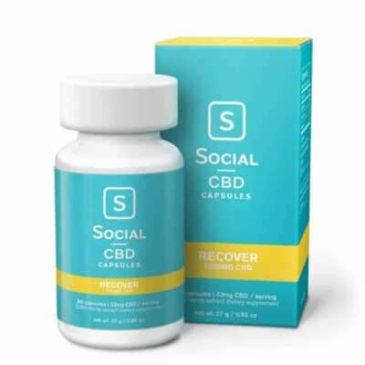Social CBD Recover Gel Caps 1000mg