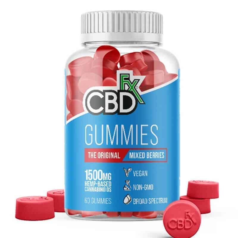 CBDFX 1500mg gummies mixed berry