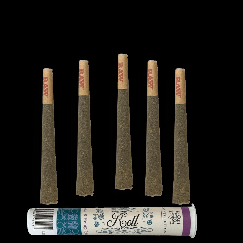 Delta 8 THC half gram joint 5 Pack