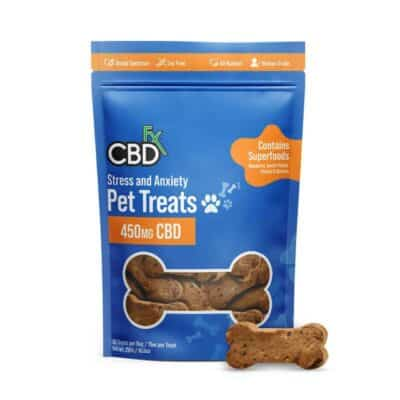 CBDfx Pet_Treats Stress_Anxiety 450mg Pic (1)