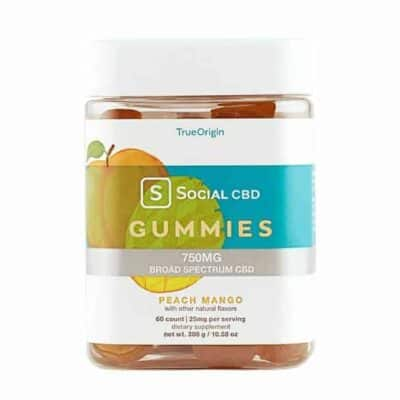 Social CBD - Broad Spectrum Peach Mango Gummies