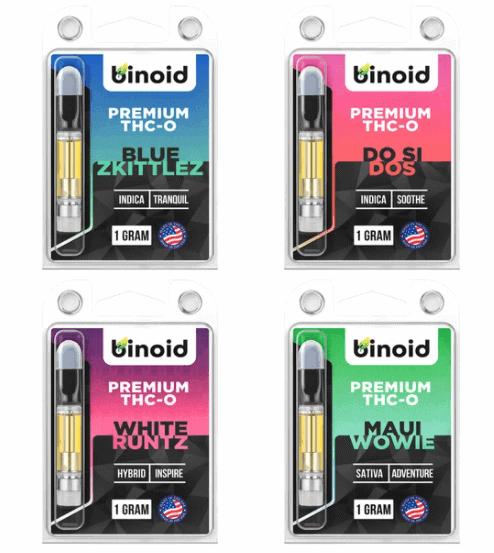 Binoid THC-O Vapes Carts Potent