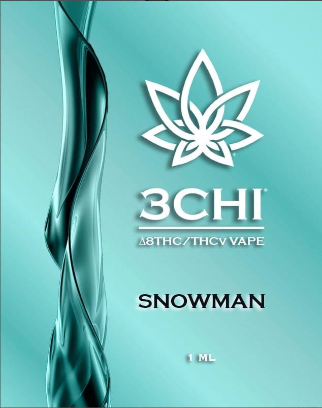 3Chi THCv Vape Cartridge Snowman