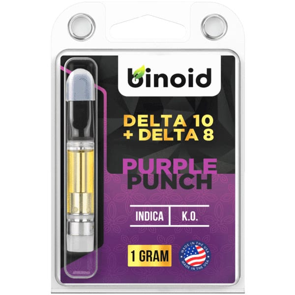 Binoid Delta 10 THC Vape Cartridges - Purple Punch