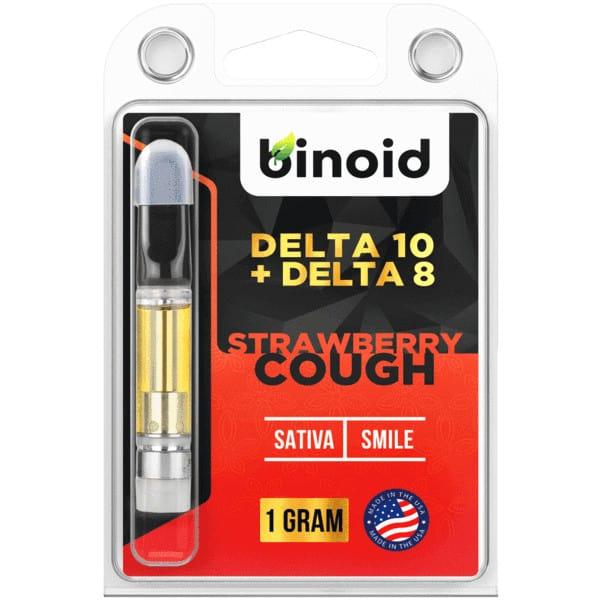 Binoid Delta 10 THC Vape Cartridges - Strawberry Cough