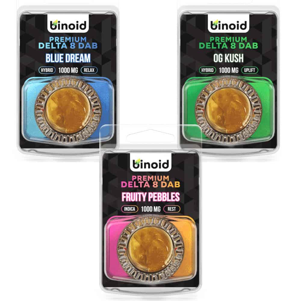 Binoid Delta 8 Wax Dabs - 1 Gram