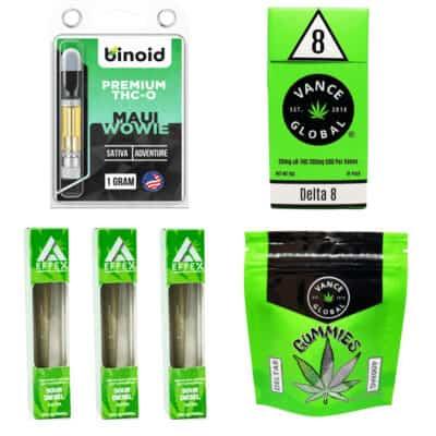 Delta 8 Sativa Gummies Cigarettes Pre Roll Bundle