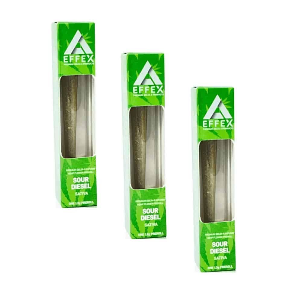 Delta Effex Sour Diesel Delta 8 THC Preroll 3 Pack